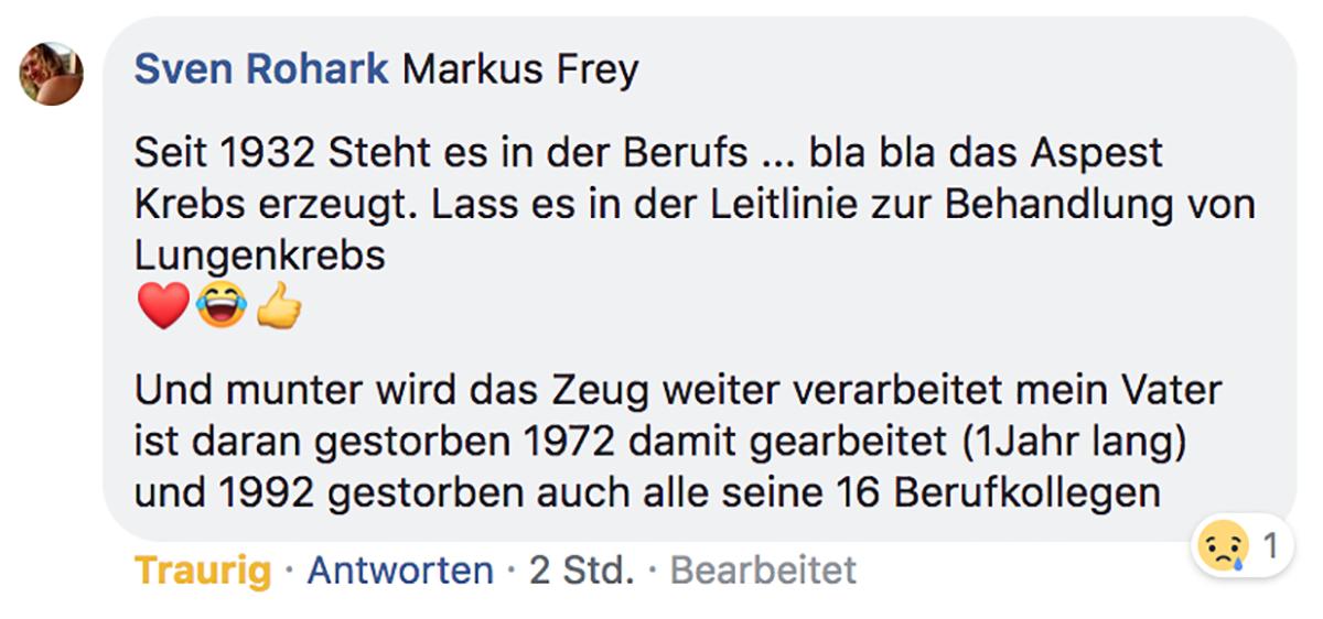 asbest facebook kommentar